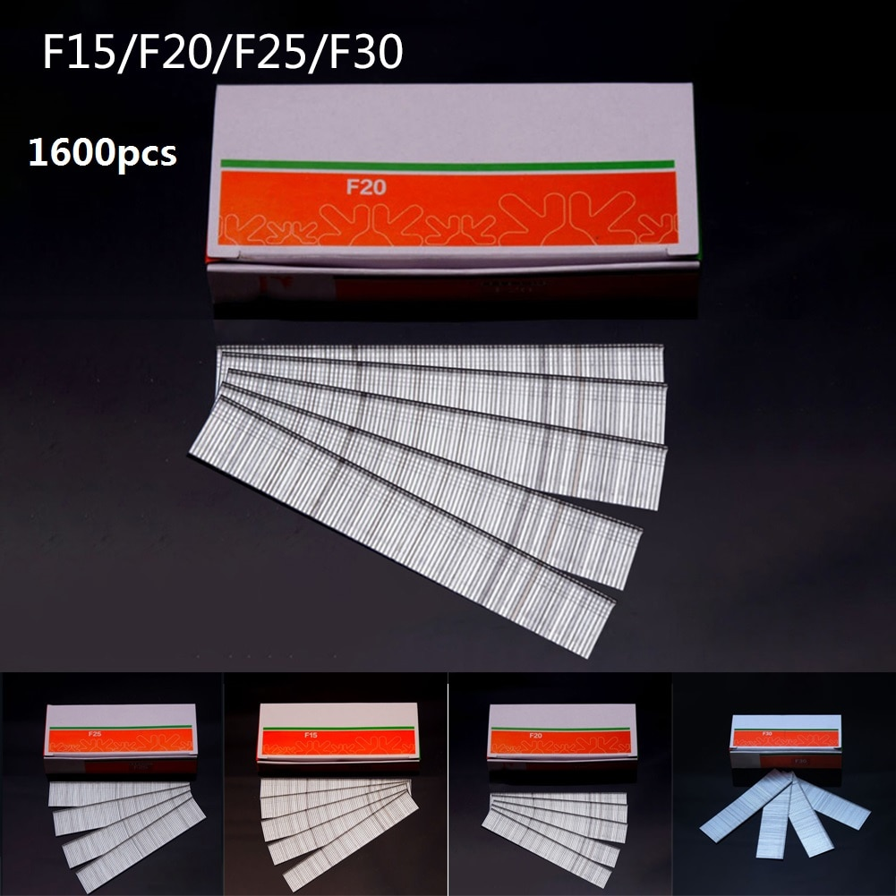1600PCS F15/F20/F25/F30 Straight Brad Nails For DIY Home/Gardening Woodworking Tools Wholesale Dia 1.05mm