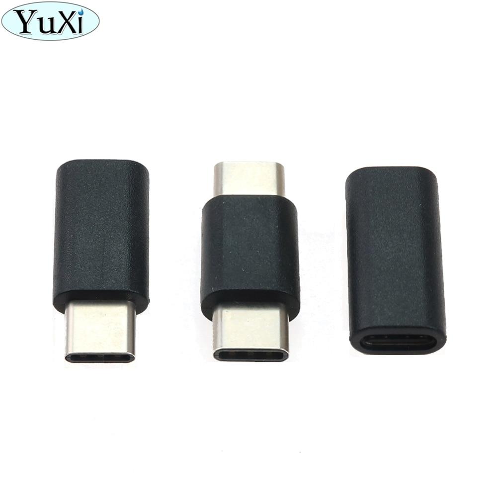 YuXi 1 Uds adaptador USB tipo C convertidor macho/hembra adaptador de datos de carga de USB-C portátil Cable de extensión tipo C para tableta de teléfono