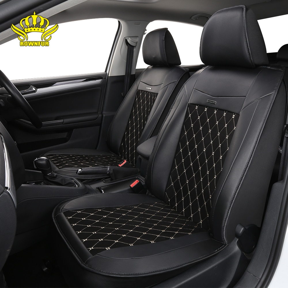 PU leather universal car seat cover artificial suede diamond pattern FIt for most cars high-end luxu