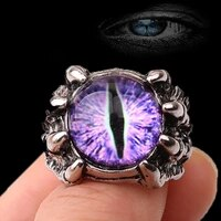 demon eye ring open adjustable domineering rings men punk hip hop finger rings jewelry gift opening for most size fingers