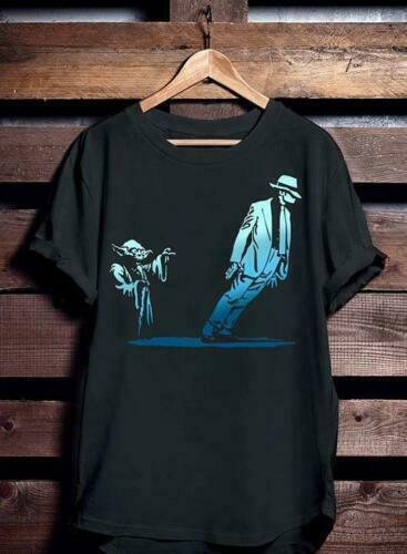 Yoda E Michael Jackson A Verdade Sobre 4Xl Mj Preto Camiseta de Algodão Dos Homens S