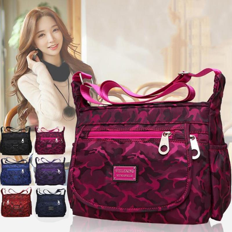 Good Women Brand Shoulder Bag Bolsos de mujer Designer Ladies Fashion Nylon Messenger Bolsos impermeables de alta capacidad