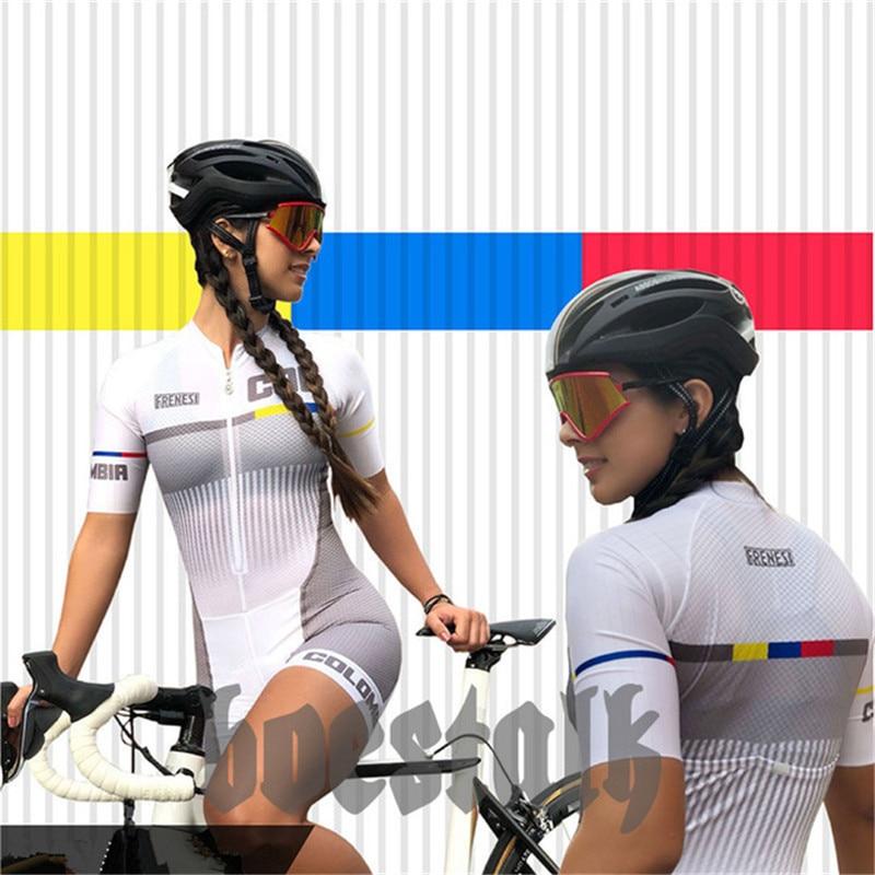 Ropa de bicicleta FRENESI mono de alta calidad para mujer 2019 sexy skinsuit bicicleta ciclismo Jersey kit triatlón go pro equipo traje de carrera