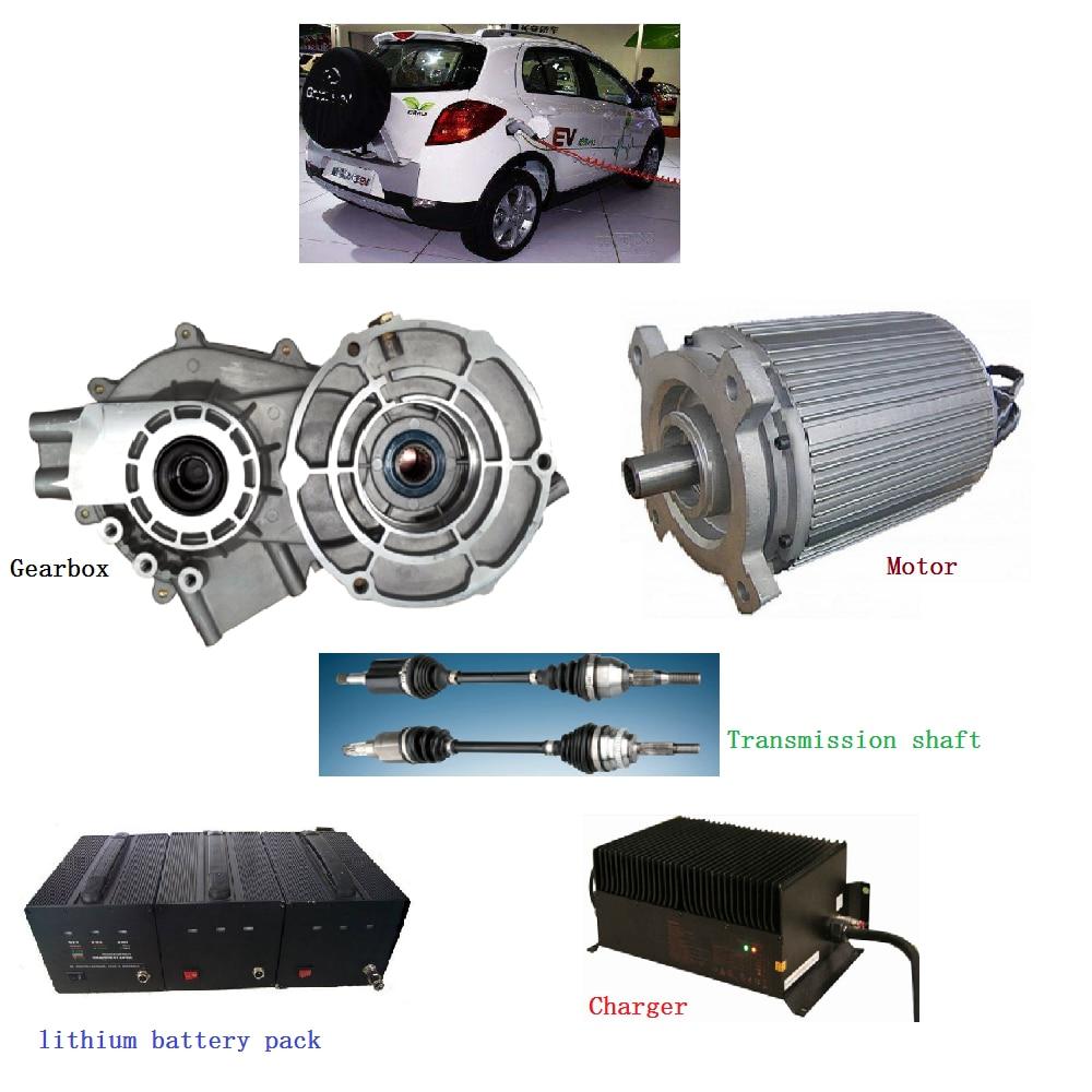 سيارة كهربائية تحويل عدة/عالية الكفاءة 3 المرحلة غير متزامن 4kw موتور كرسي متحرك السيارات