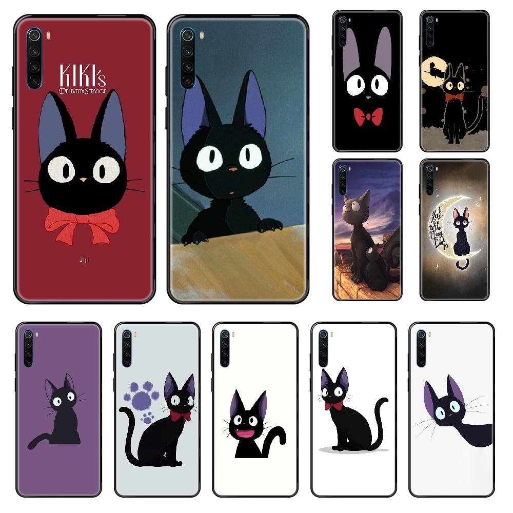 ¡JiJi, Gato servicio de entrega de Kiki funda de teléfono para Xiaomi Redmi Note S2 4 5 5 5 6 6 7 8 X S X Plus Pro negro de concha de moda tpu primer 3D
