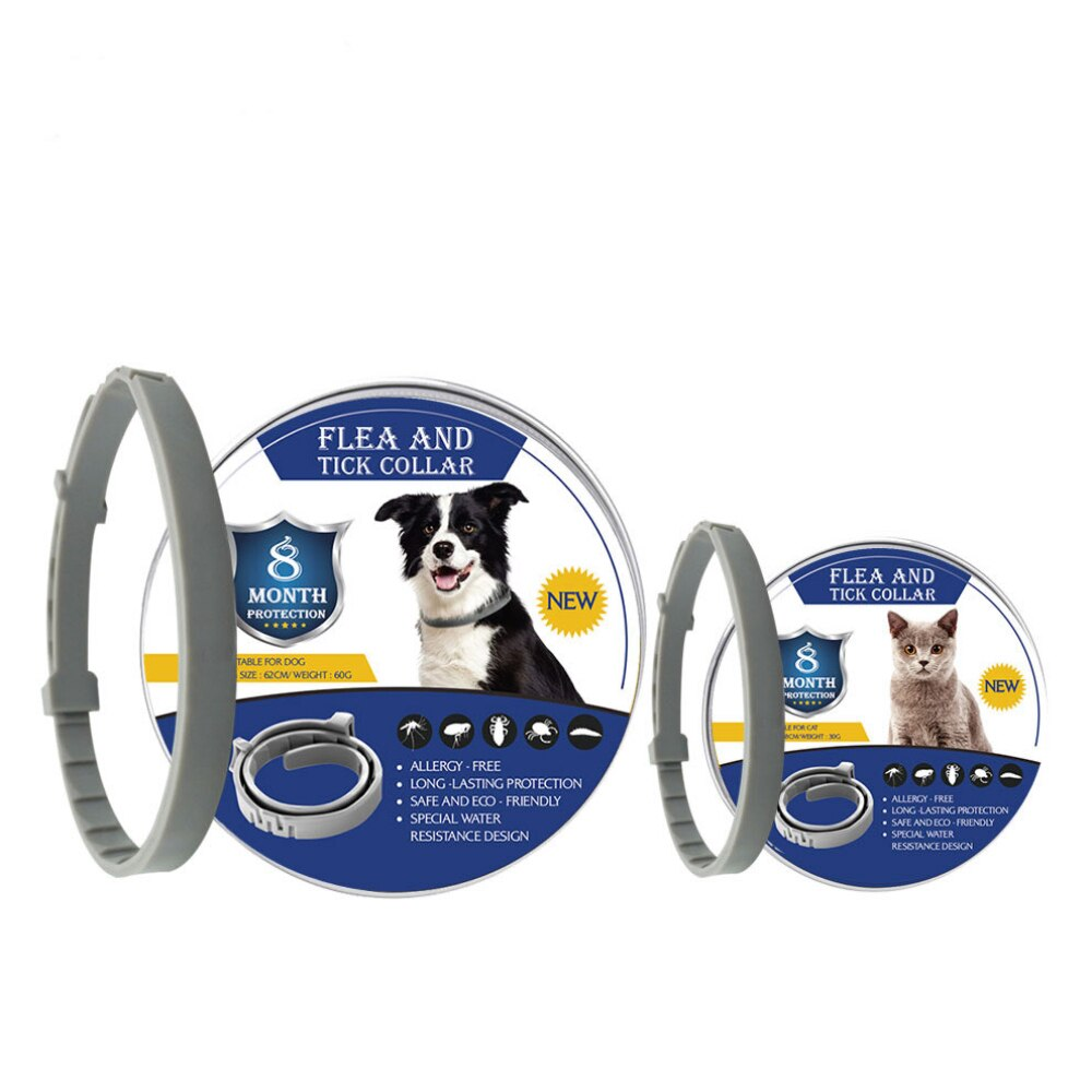 8 Month Flea Tick Collar For Dogs Cats collar Pet Adjustable Dog Collar for Small Dogs Pets Accessories Cute Products