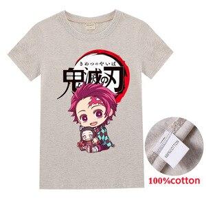 Kimetsu no Yaiba kids clothes girls 8 to 12  boys tops  t shirt  girls shirt   Fashion  Cotton  Short  toddler shirts