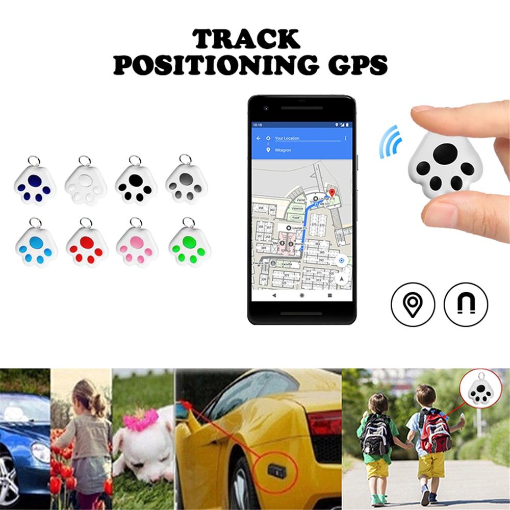 Mini Smart GPS Tracker Key Finder Locator Wireless Bluetooth Anti Lost Alarm Sensor Device For Kids Pets Cat Motorcycles Luggage