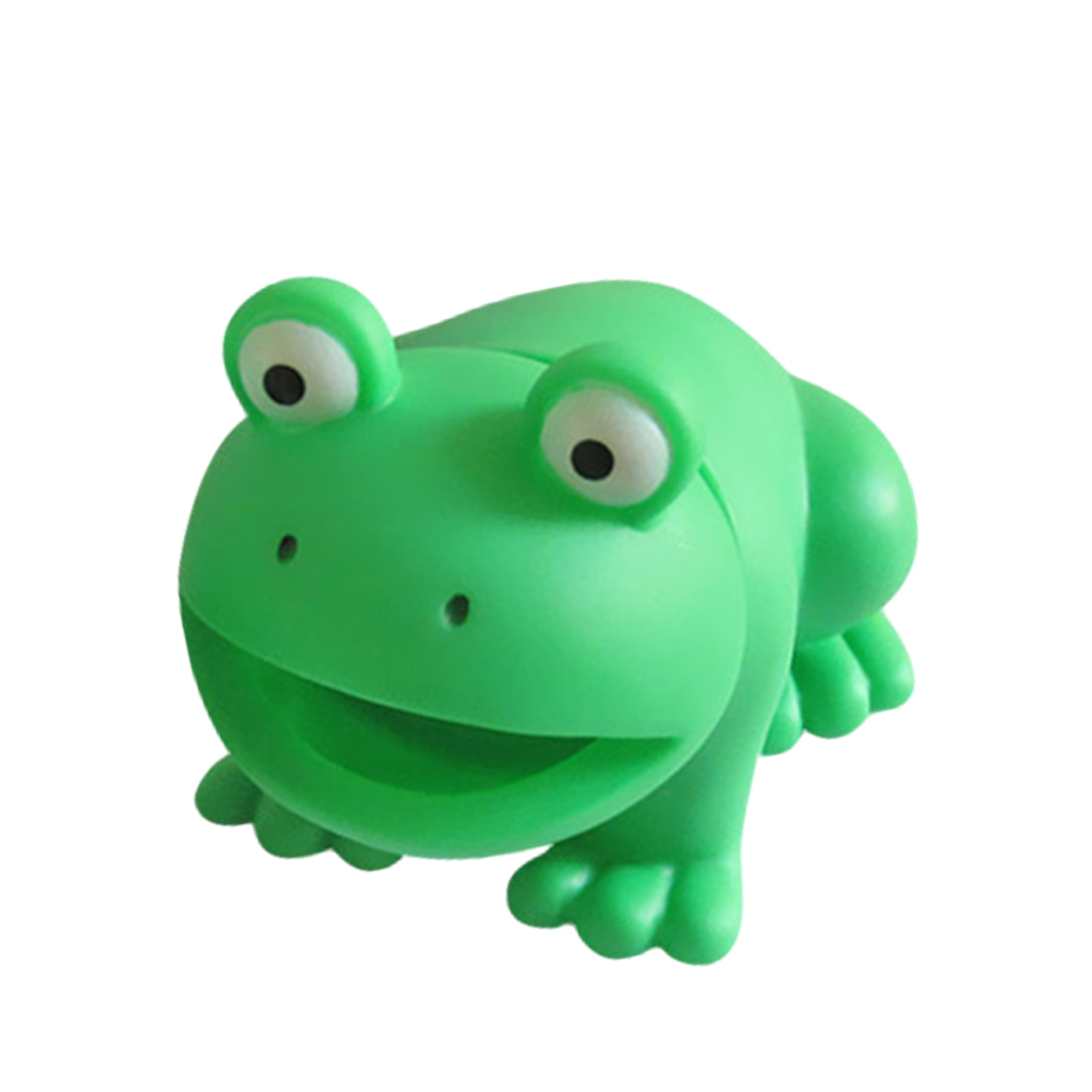 Latex Frog BathTub Swimming Water Toys Squeeze Sound Squeaky Bathing Toy Baby Bath Funny Trick Sounding for Pets