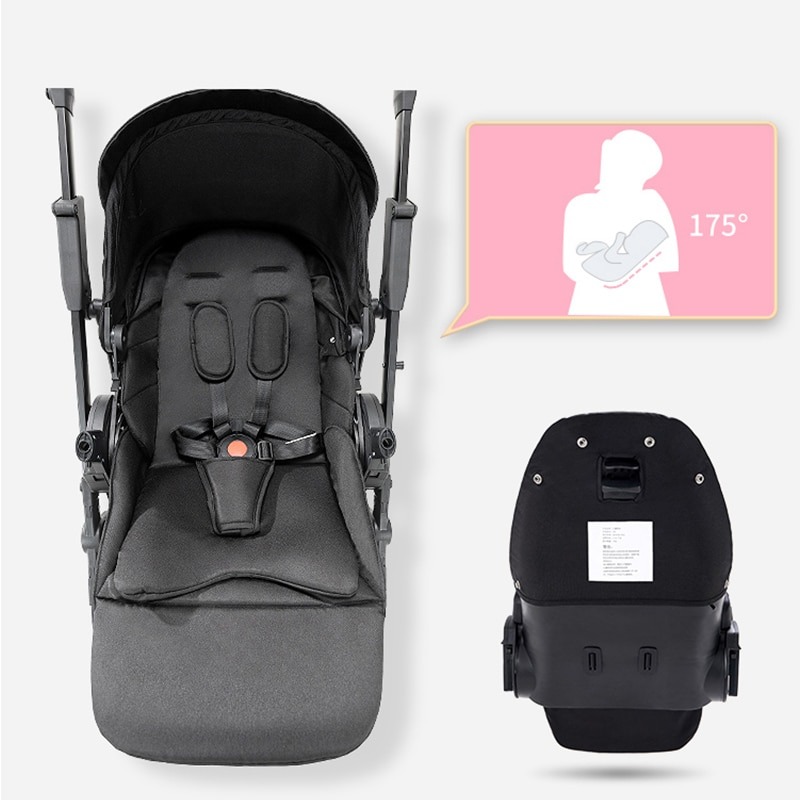 Ultra-light baby stroller portable folding stroller,one-click folding, two-way stroller for newborn travel, can be on the plane enlarge