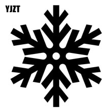 YJZT 13.6X15.1CM Cute Snowflake Bumper Decoration Vinyl Decals Fashion Car Sticker Accessories C25-0