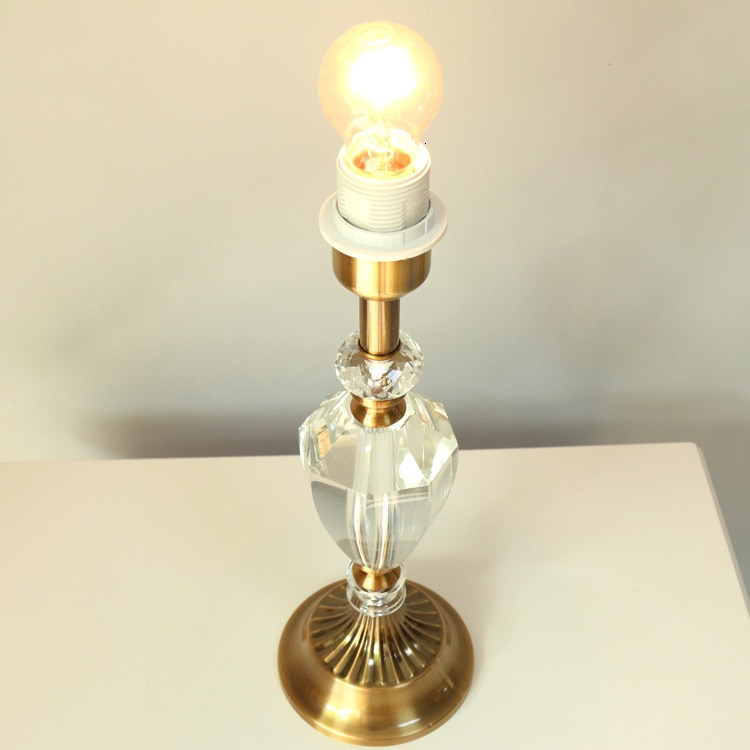 Lámpara de mesa de escritorio cristal K9 luces de hogar Decoración luces de mesa lámpara de bombilla moderna decoración del hogar lámparas de mesa dormitorio lámpara de noche E27