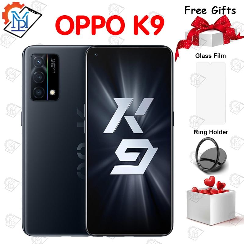 Перейти на Алиэкспресс и купить Оригинальный Oppo K9 мобильный телефон 6,43 дюймов 90 Гц 8 ГБ + 128 ГБ Snapdragon 768 Octa Core Android 11 быстрой зарядки 65 Вт смартфон