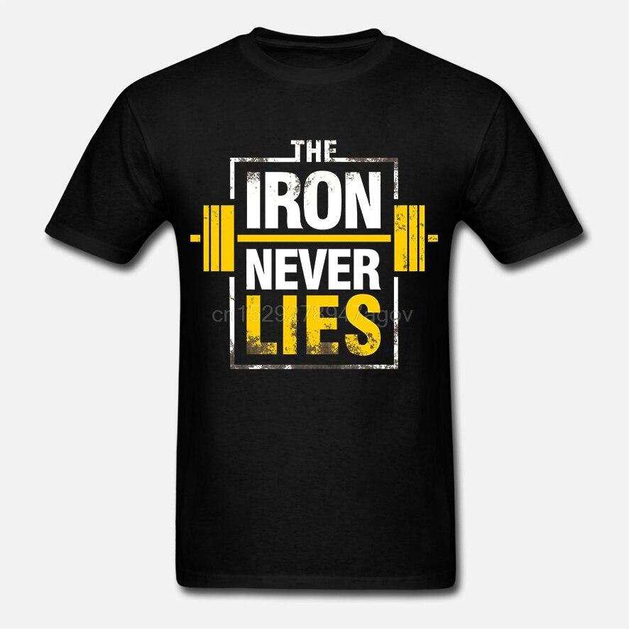 Camiseta ferro nunca mente-direto de stockist