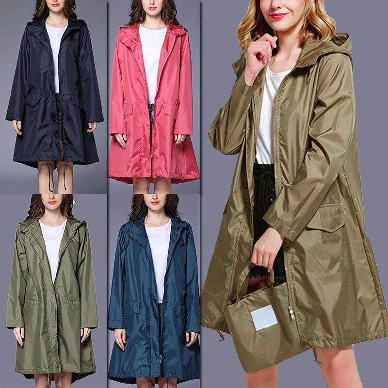 Модный повседневный женский и мужской дождевик, ветровка, легкая дышащая портативная уличная ветрозащитная верхняя одежда на молнии с капю...