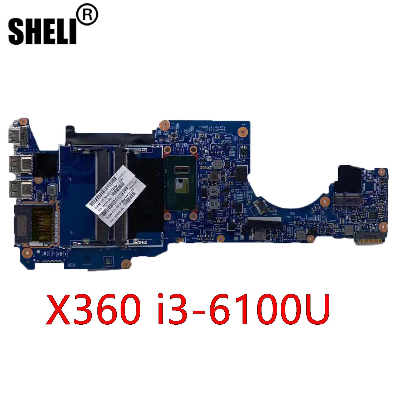 SHELI ل HP جناح X360 اللوحة المحمول 855962-601 دفتر i3-6100u 2.3GHz CPU DDR4 15256-1 448.07m06.0011