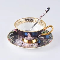 coffee cup set european style small luxury modern bone porcelain british afternoon tea cup set