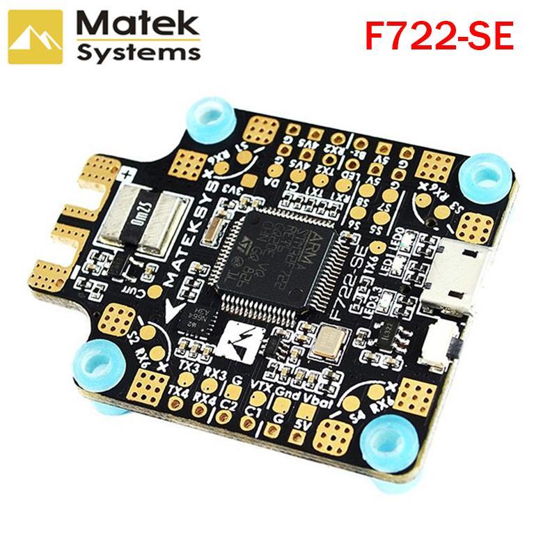 Matek System F722-SE F7 Dual Gyroscope Flight Controller w/ OSD BEC Current Sensor Black Box for RC