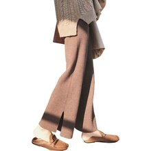 Drooping Wide Leg Pants Women's Autumn and Winter Korean Style Loose Slimming Open