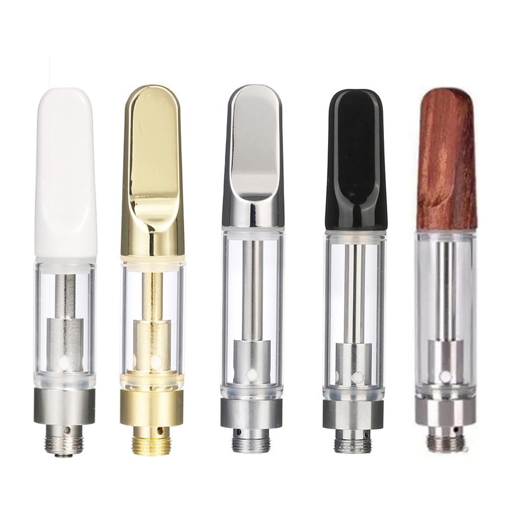 Vape Ceramic Tip Oil Cartridge Coil vaporizer pen cartridges Atomizer Tank for 510 Thread CBD oil недорого
