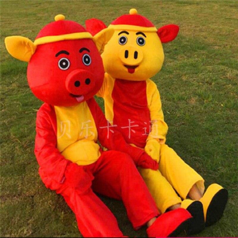 Nuevo disfraz de Mascota de Halloween para año del cerdo, traje de disfraz para fiesta de Cosplay, trajes de vestir, ropa de publicidad, disfraz de Carnaval de dibujos animados