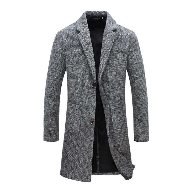 Новые модные дизайнерские длинное пальто куртка мужская ветровка осень-зима ветрозащитная тонкая ветровка мужская размера плюс
