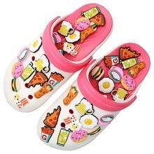Accessori per scarpe stile alimentare accessori per ciondoli per scarpe nuova birra Pizza patatine fritte fibbia per scarpe decorazione per Croc Jibz regali per feste per bambini