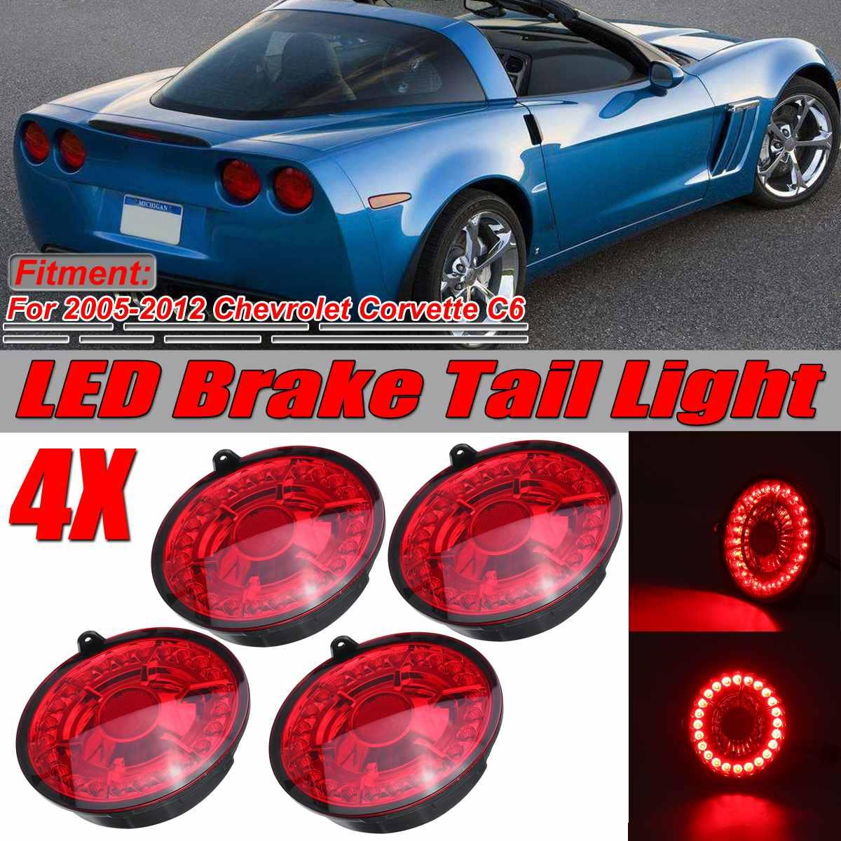Nuevo C6 coche luces traseras LED para luz de freno Luz de LED de freno Luz de cola para Chevrolet Corvette para C6 para Coupe 2005-2013