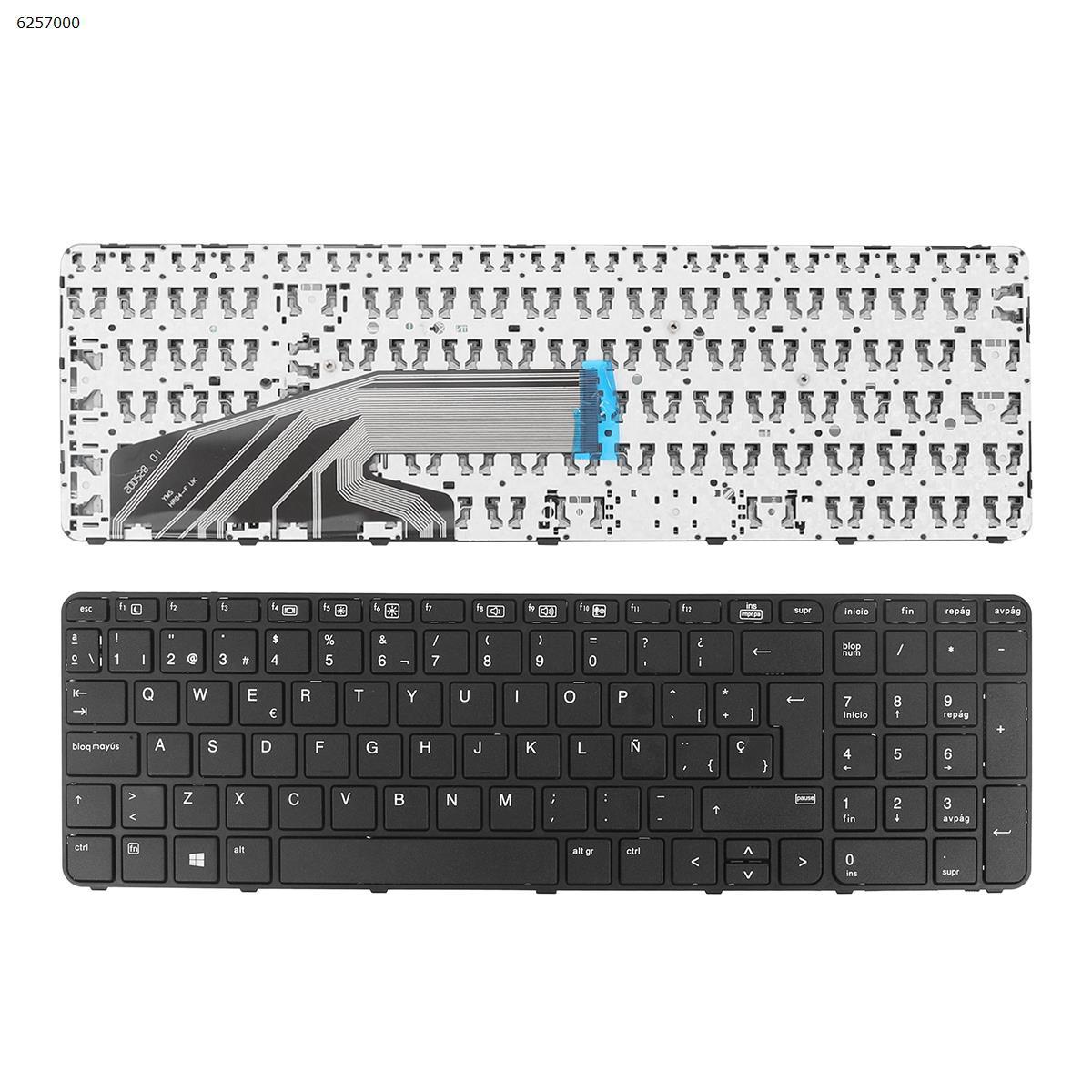 SP الاسبانية الجديدة استبدال لوحة مفاتيح إتش بي Probook 650 G2 655 G2 650 G3 655 G3 المحمول الأسود مع الإطار