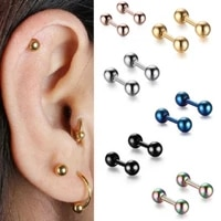2pcs tragus helix bar 4mm ball stainless steel barbell daith oreja ring stud earing cartilage ear piercing body jewelry