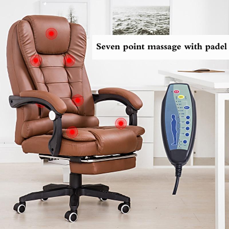 Фото - Офисное кресло с подставкой для ног, вращающееся массажное кресло с наклоном, эргономичное компьютерное кресло, сочетается с лучшими нейло... окружи себя лучшими