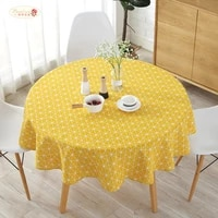 proud rose yellow chessboard table cloth pillowcase cotton linen tablecloth dining table cover kitchen chair cushion