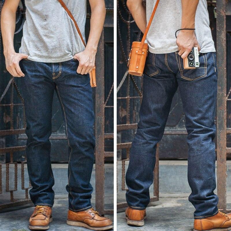 Red Tornado Slim Fit Men's Jeans 16oz Selvage Denim Pants Blue Onewash