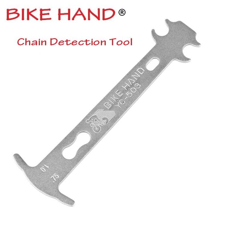 Herramienta de reparación de bicicletas de mano herramientas de detección de mantenimiento de cadena de bicicleta de montaña MTB herramienta de medición de cadena de bicicleta de carretera
