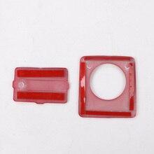 ABS encendedor trim USB pegatina roja del Panel Interior impermeable