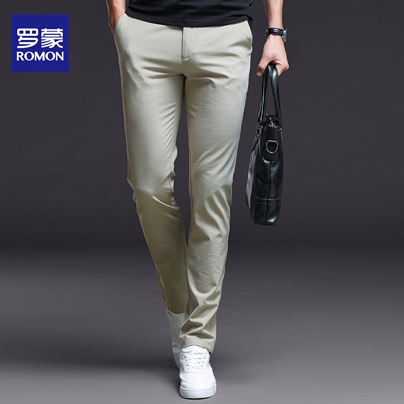 Casual Pants Men's Autumn Stretch Korean Style Tappered Pants Men's Workwear Suit Pants Slim Straight Business Youth