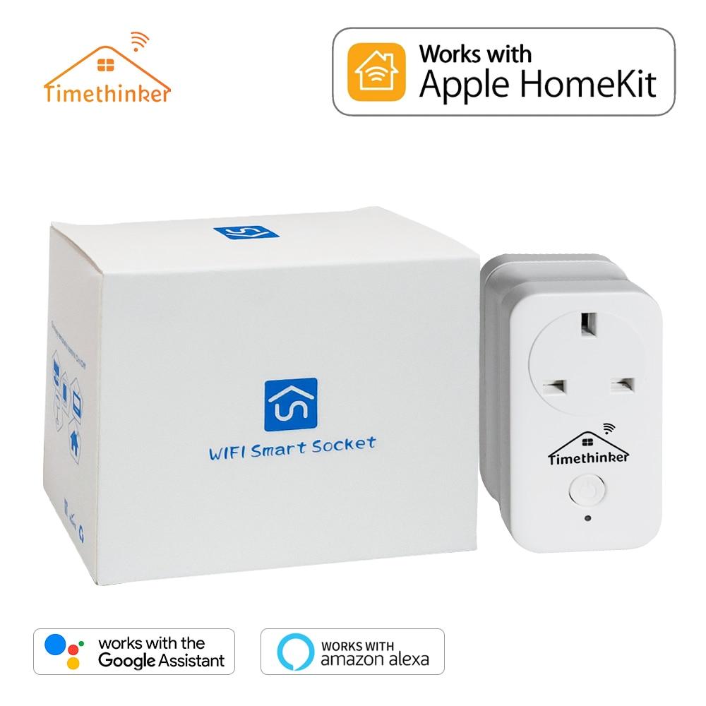 Timethinker Smart Plug for Apple Homekit Smart WIFI Socket for ALexa Google Home APP Voice UK/US/EU/AU Remote Control Outlet