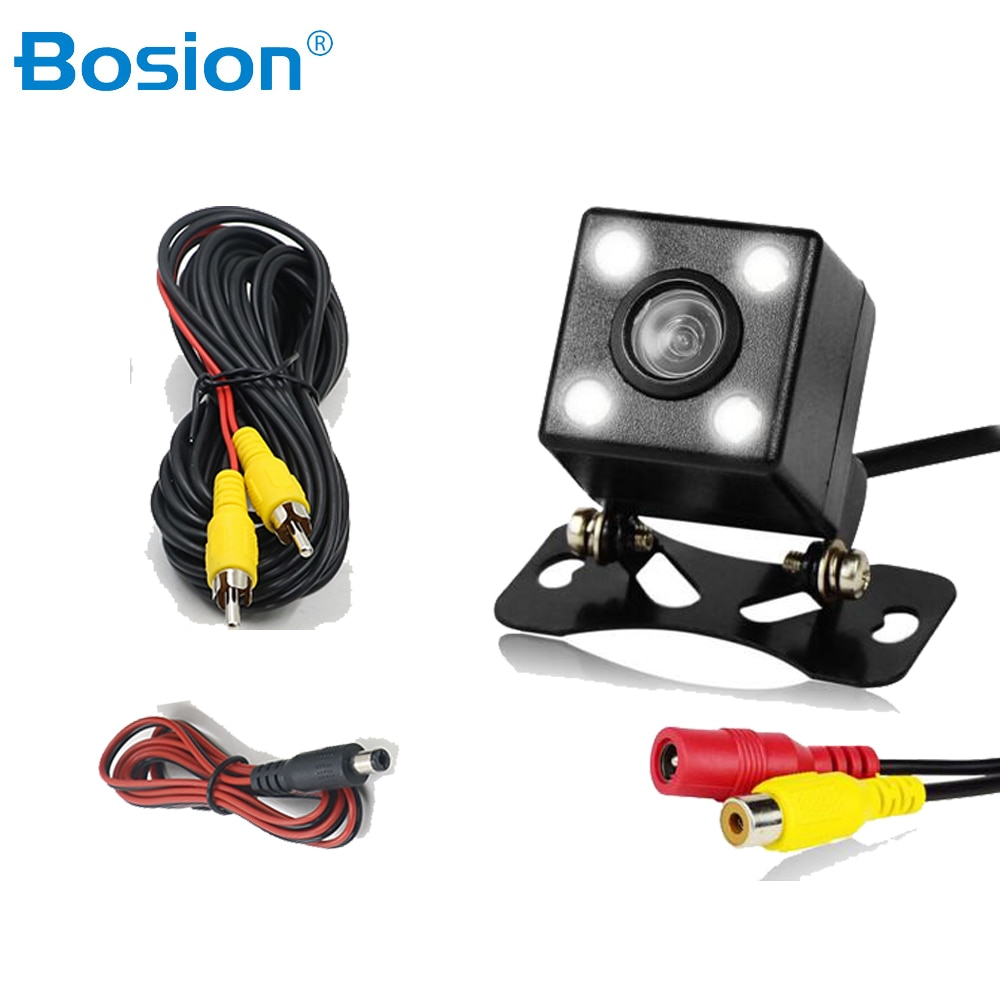 170° Wide Angle Car rearview camera HD rear view video vehicle camera Backup Reverse Camera 4 LED N