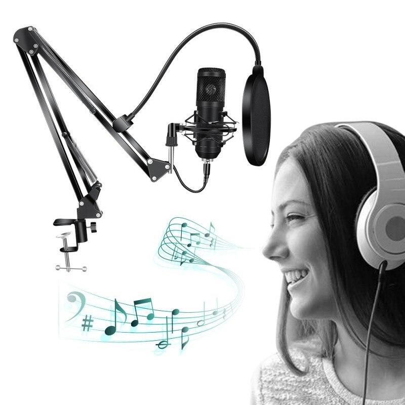 Taxa de Amostragem Gravação de Alta Música ao Vivo Computador Microfone Frequência k Chat Voz Dropshipping Usb Bm-800 192khz