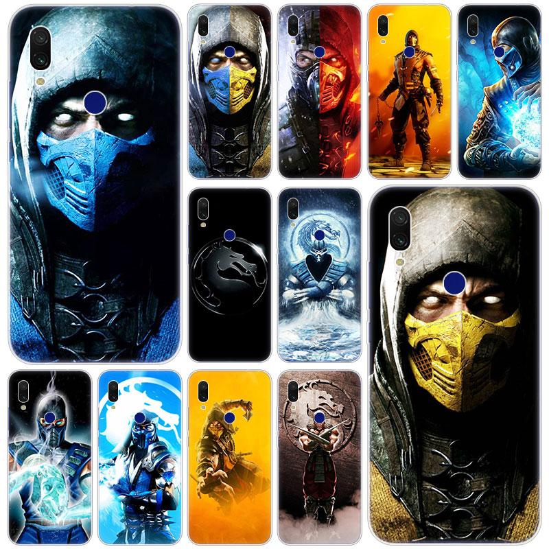 Mortal Kombat Scorpion quente Capa de Silicone para Xiaomi Redmi K20 Pro 8 8A 7 7A 6 6A 5 Plus S2 Nota 8 7 6 5 Pro 4 4X Moda Capa