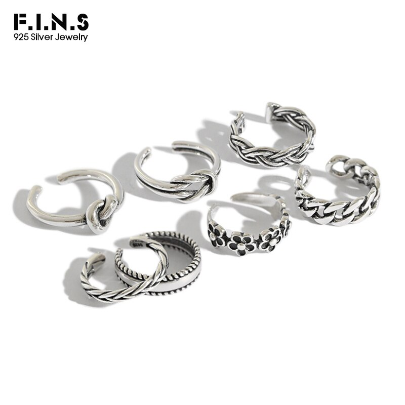 AliExpress - F.I.N.S 925 Sterling Silver Woman Fashion Rings 2019 Knuckle Ring Multi Styles Adjustable Rings Toe Ring Beach Foot Jewelry