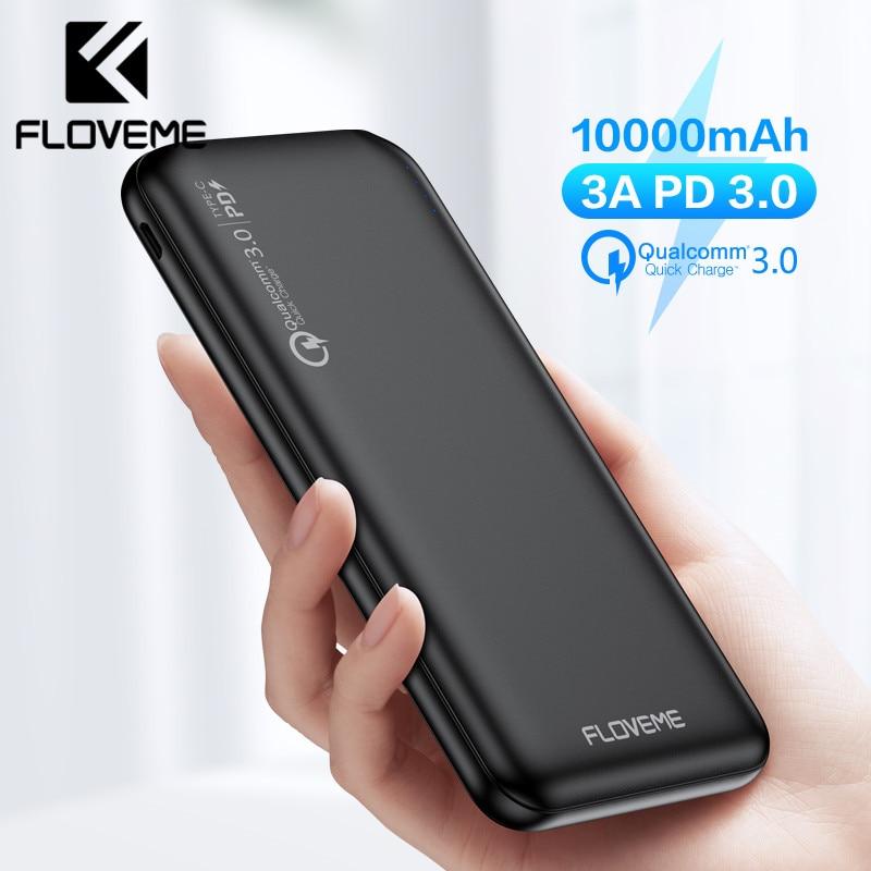 FLOVEME-باور بانك 3.0 ، 10000 مللي أمبير ، بطارية خارجية سريعة ، PD 3.0 ، 18 واط ، 10000 مللي أمبير ، لأجهزة iPhone و Xiaomi