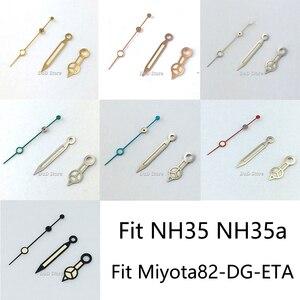 Luminous Watch hands Fit ETA 2836 2824 NH35 NH36 Mingzhu 2813,3804 Miyota 82 series movement Watch accessories