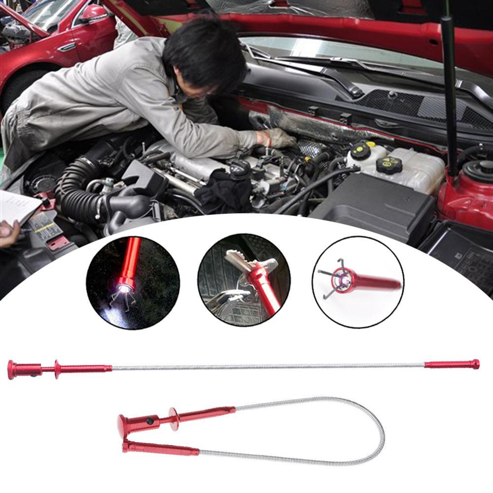 Herramientas de mano magnéticas retráctiles para coche, herramientas de mano, herramienta de imán para recoger garras magnéticas flexibles, agarre con resorte de largo alcance
