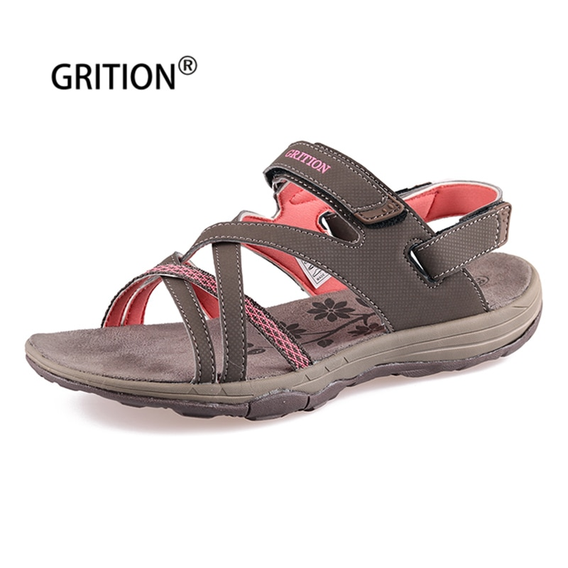 GRITION-صندل نسائي مسطح بنعل ناعم ، أحذية صيفية خارجية ، أحذية شاطئ ، مشي ، مريح ، غير رسمي ، بمقدمة مفتوحة ، مقاس 41 ، 2020