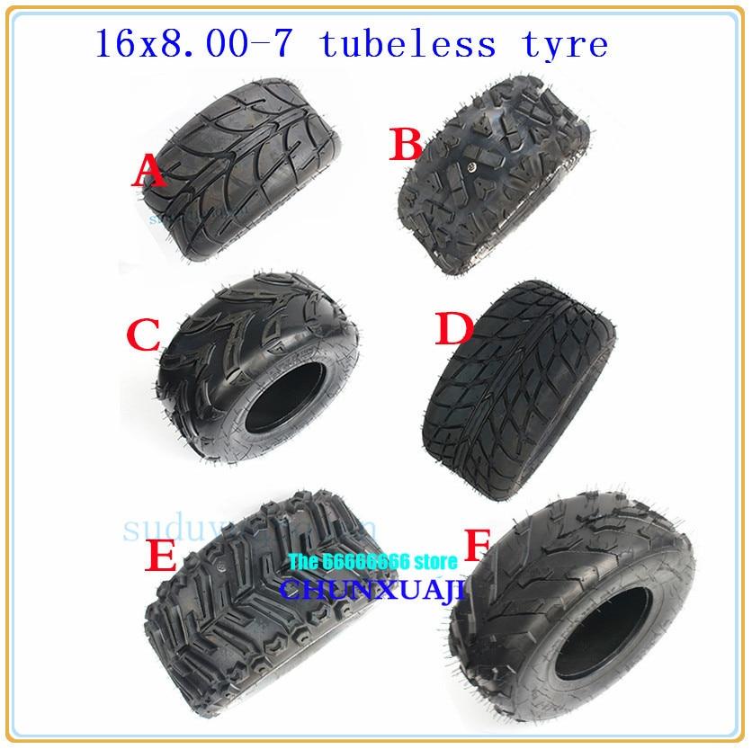 16x8-7 ATV & Go-Kart Off-Road Tires All-Terrain 16x8.00-7 16/8-7 Tubeless tyres Highway Tyres Wear-resistant vacuum wheek tire
