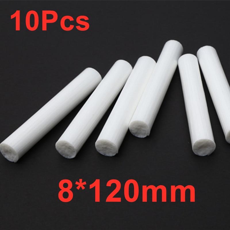 10 sztuk 8*120mm nawilżacze bawełniany filtr Stick wymaz zamiennik dla rozpylacz zapachów powietrza USB kapsle do butelek na wodę nawilżacz Dropship