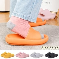 unisex slippers thick platefrom slippers unisex indoor bathroom soft eva sandals women water shoes lightweight fashion clogs