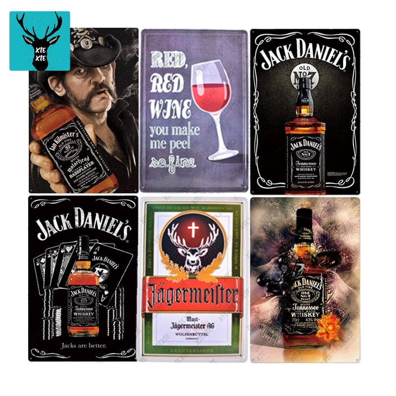 Famous Whisky Poster Beer Tin Sign Plaque Plate Wall Decor Casino Decorative Plates Metal Pub Vintage For Bar Club