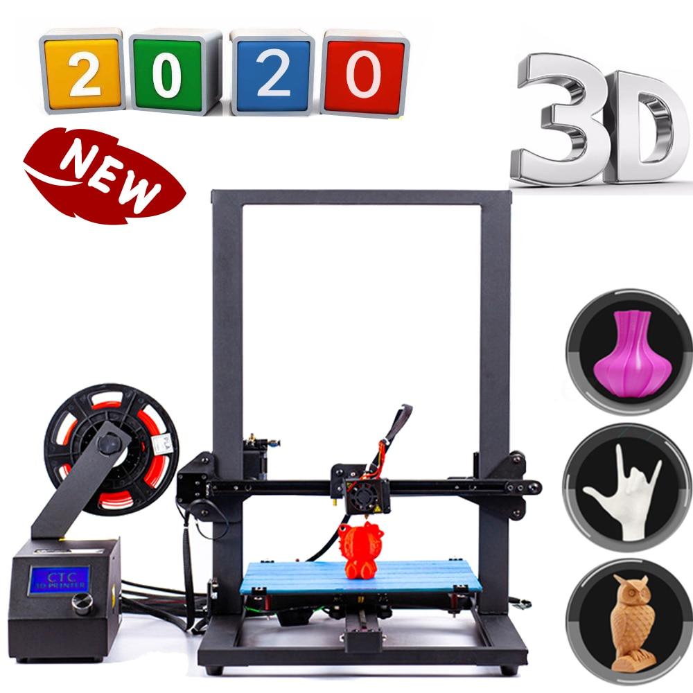 Impresora CTC Impresora 3D de gran tamaño con marco de aluminio y doble varilla Z, Impresión de 30cm x 30cm x 40cm, impresión en tamaño 3D, disponible en Reino Unido y Estados Unidos